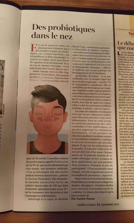 Magazine de septembre 2018